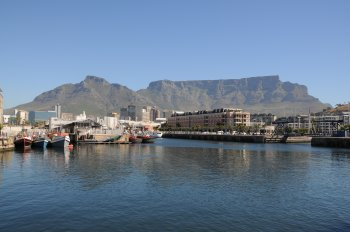 Table Mountain, Cape Town as seen from The Victoria and Albert Waterfront