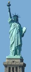 The Statue of Liberty - One of many famous New York landmarks